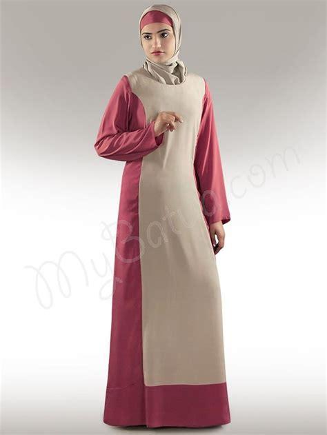 Jilbab Morocco Hudaiva Size M arshi warm grey magenta abaya crepe burkha burqa