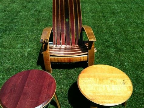 wine barrel patio furniture 11 best images about patio furniture on
