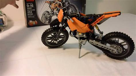 technic motocross bike technic 42007 motocross bike modified youtube