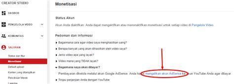 membuat akun adsense di youtube cara mengaitkan akun adsense dengan youtube