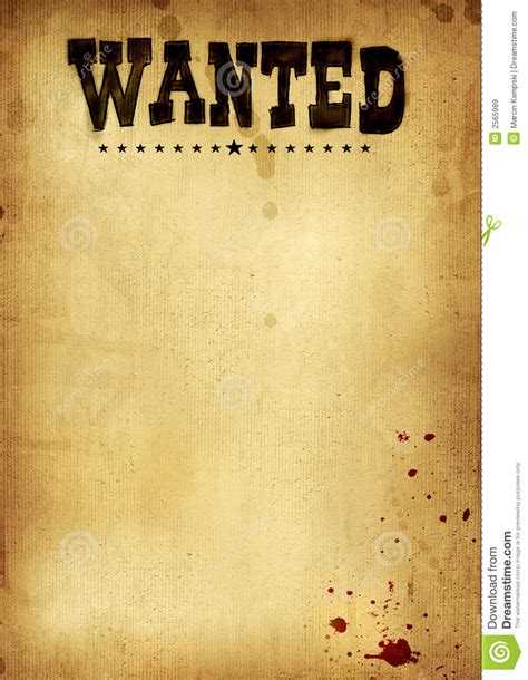 Free Clip Art Wanted Poster Template Cowboy 2 Western Wanted Poster Template