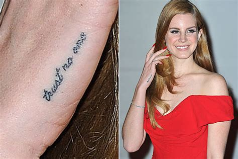 lana del rey hand tattoo it s s