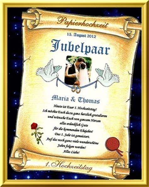 Hochzeit 41 Jahre by 1 Hochzeitstag Geschenkidee Zur Papiernen Hochzeit