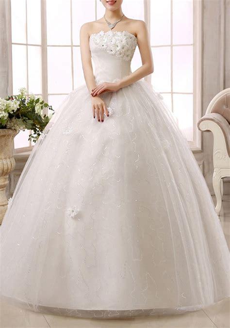 Patchwork Wedding Dress - white patchwork lace bandeau tulle tutu wedding