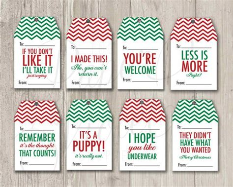 printable grinch gift tags funny gift tags christmas tags mean gift tags holiday
