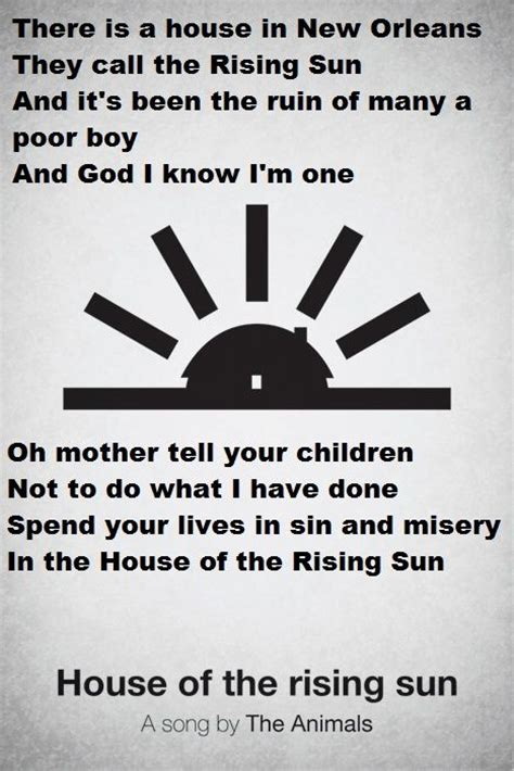 animals house of the rising sun lyrics 245 best lyrically speaking images on pinterest music lyrics music and song lyric
