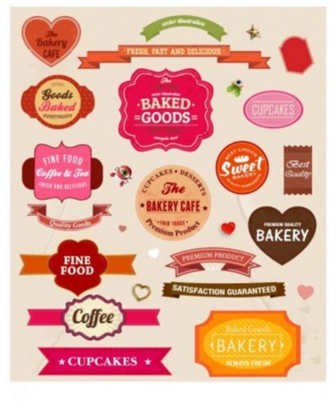 contoh design label kue makanan kertas label set vektor misc vektor gratis