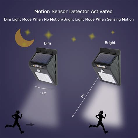 motion sensor for led lights solar motion sensor lights morecoo led outdoor bright