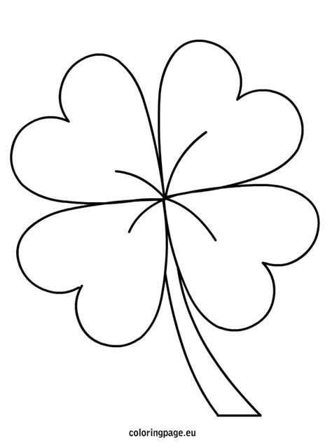 coloring pages of four leaf clover 4 leaf clover coloring page coloring home