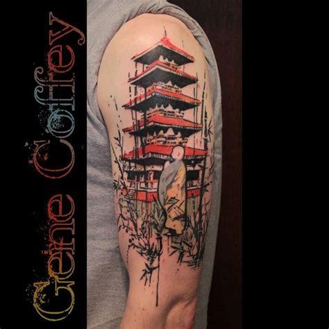 japanese temple tattoo 013b1df5651d5eb972e3a2037127494a jpg 736 215 736 tattoos