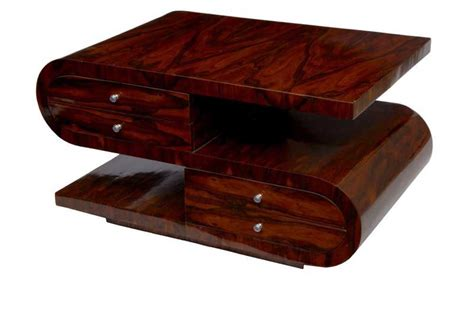 s shaped coffee table s shaped deco coffee table walnut cocktail tables