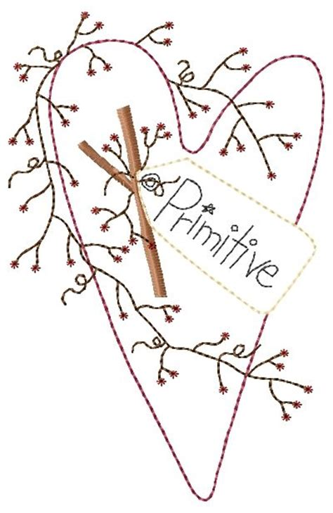 pattern for primitive heart free primitive embroidery patterns primitive heart with