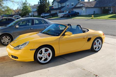 yellow porsche boxster 2000 speed yellow boxster s all books keys records