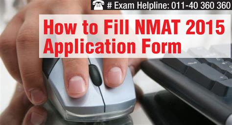 Gmac Mba Pathfinder by How To Fill Nmat 2015 Application Form