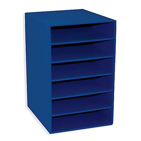 Blue Shelf by Pacon Classroom Keepers 6 Shelf Organizer Blue By Office