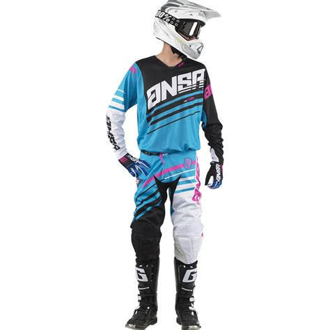 white motocross gear answer 2017 mx gear alpha cyan blue white black dirt