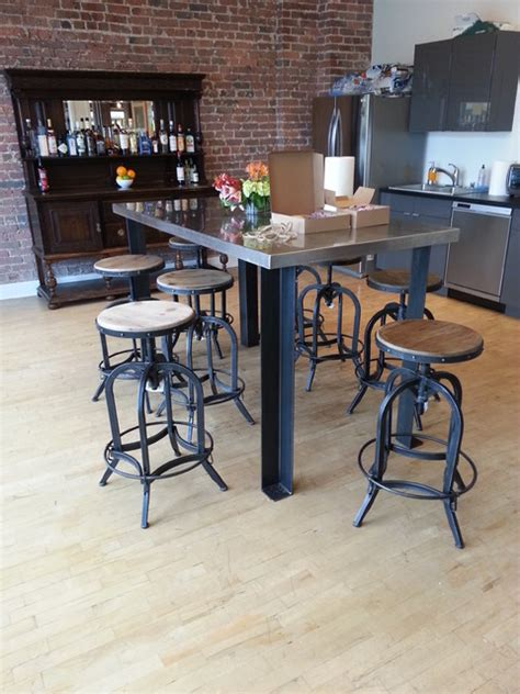 Industrial Kitchen Table Furniture | new legs for a modern kitchen table industrial dining
