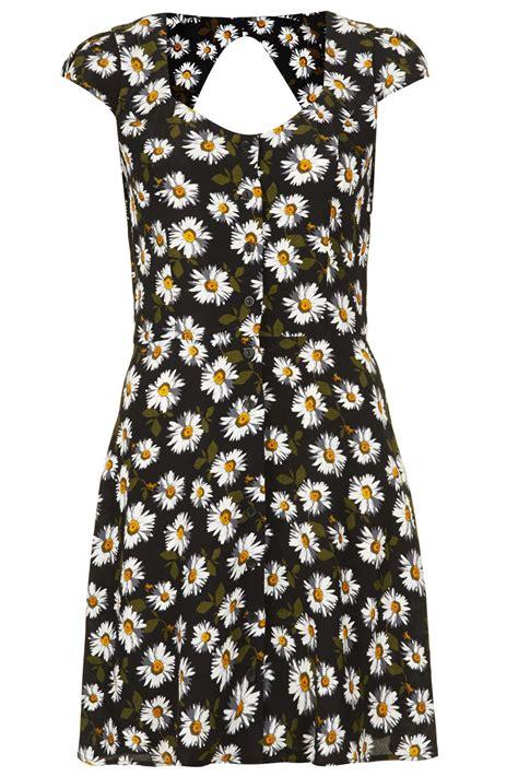 Dress Disy topshop open back tea dress in black lyst