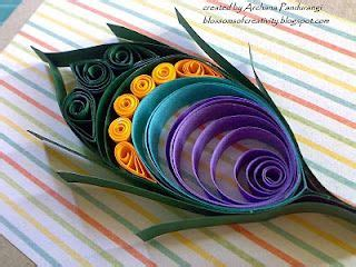 paper quilling peacock feather tutorial quilled peacock feather paige brown you have to make one