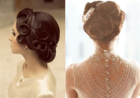 Wedding Hair Updo Vintage by Vintage Inspired Bridal Updos Onewed