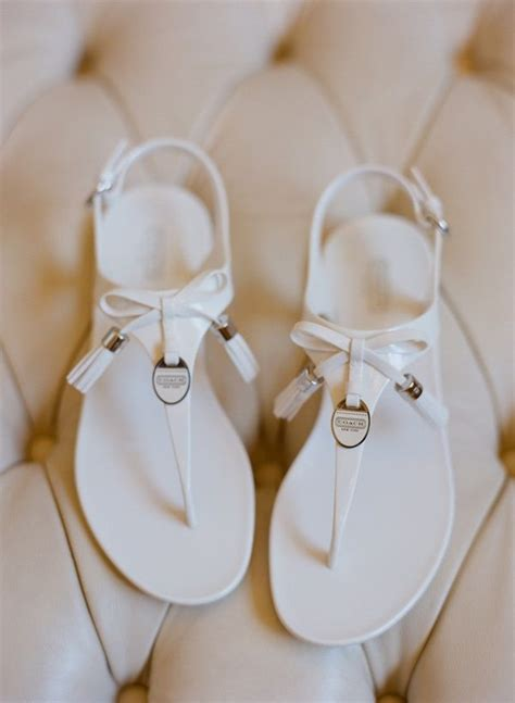 White Wedding Sandals by Flat White Coach Wedding Sandals Michael Kors Outlet