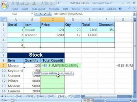 Excel Magic Trick 348 Formula For Unit Inventory Total Sumif Function Trick Youtube Purchase Price Allocation Template