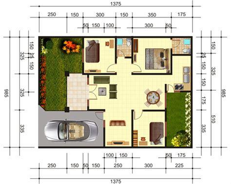 contoh gambar denah rumah minimalis modern sederhana bibeh