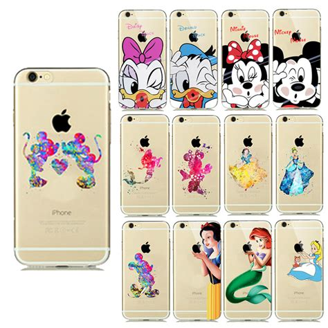 Iphone 7 Donald Duck Pattern Hardcase comic pattern mickey minnie donald duck silicon cover for iphone se 5s 6 6s