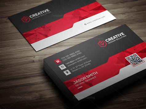 Cool Business Card Design Templates by Creative Business Card Design Template 000462 Template