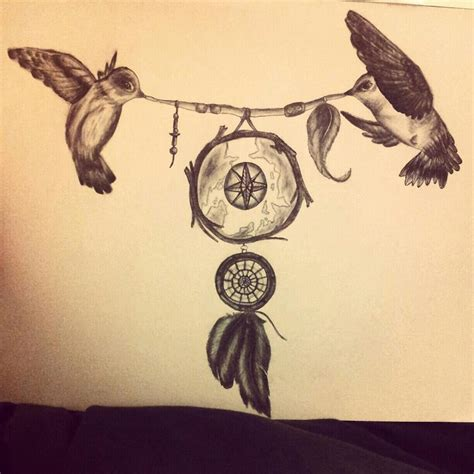 Dreamcatcher Tattoo Designs With Birds | 29 dreamcatcher tattoos with birds
