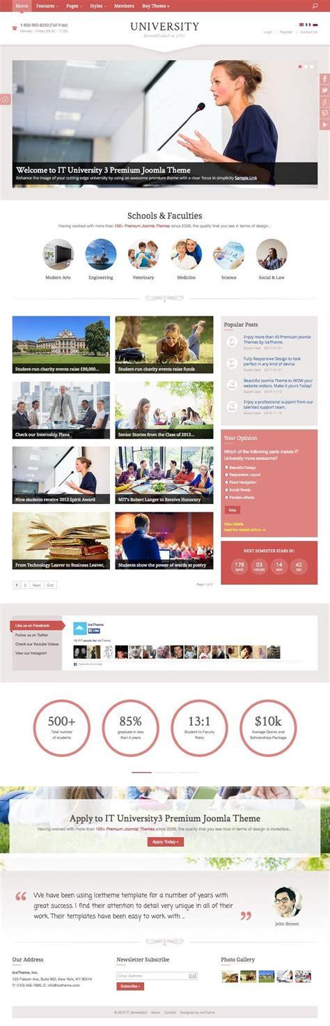 free joomla templates for university website it university 3 joomla template for school institution