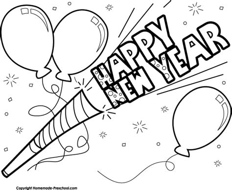 new year clipart black and white black and white new year clipart