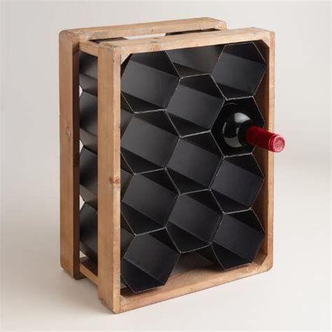 World Market Wine Rack by Metal And Wood Honeycomb 11 Bottle Wine Rack World Market