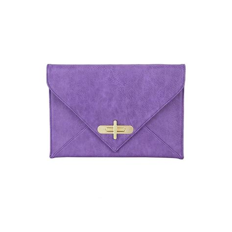 Clutch Purple white leaf purple envelope clutch bag