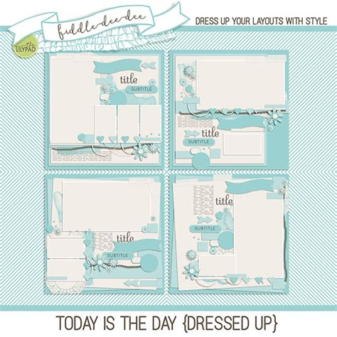 Are You Dressed Up For Today by Digital Scrapbook Template Today Is The Day Dressed Up