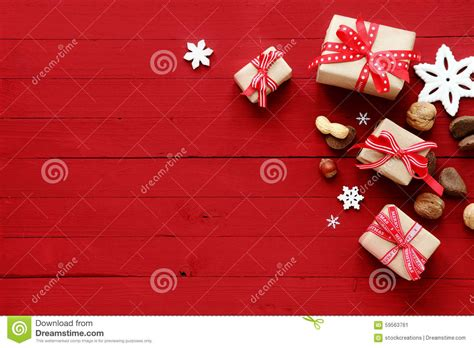 festive red christmas card background  border stock photo image
