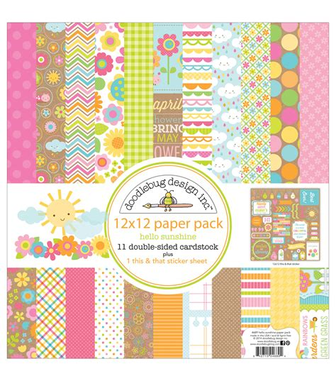 doodlebug paper doodlebug paper pack 12 quot x12 quot hello at joann
