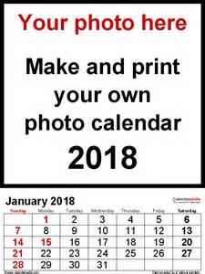 Calendar 2018 With Photos Photo Calendar 2018 Free Printable Word Templates