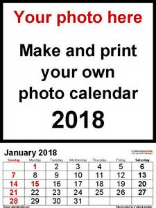 Photo Calendar 2018 Photo Calendar 2018 Free Printable Word Templates