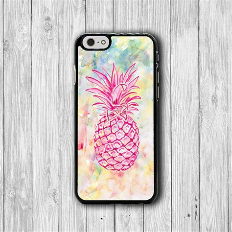 Casing Iphone 5 5s Pineapple Pattern Custom pink pineapple watercolor iphone 6 cover iphone 6 plus iphone 5 5s iphone 5c cases