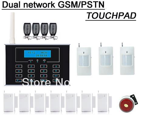 gsm home alarm system with wireless door sensor window