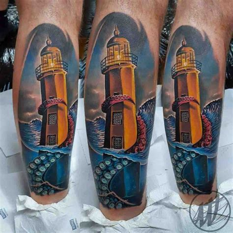 tentacle lighthouse tattoo best tattoo ideas gallery