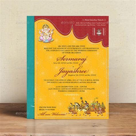 hindu wedding card templates free 35 traditional wedding invitations psd free premium