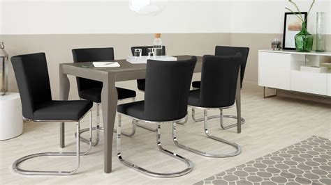 6 seater dining table grey gloss uk delivery