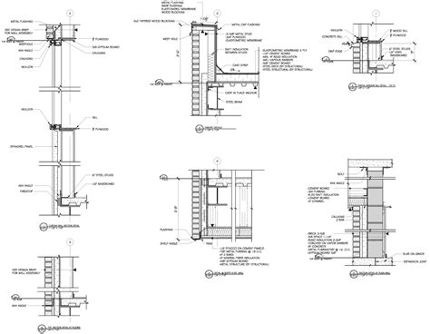 curtain wall section detail commercial building plans by raymond alberga at coroflot com