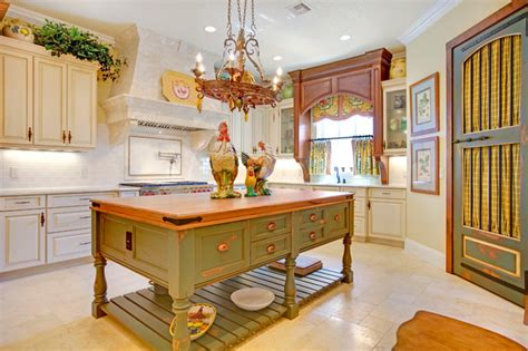 french country kitchen islands french country