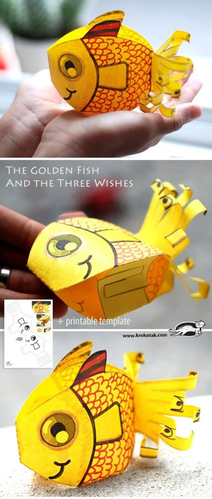 How To Make A 3d Fish Out Of Paper - craftionary