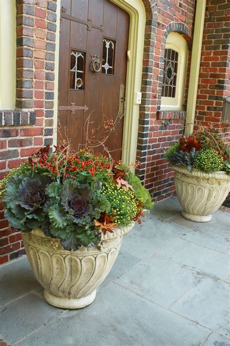 Fall Outdoor Planters fall outdoor pots ideas photograph fall planters fall de
