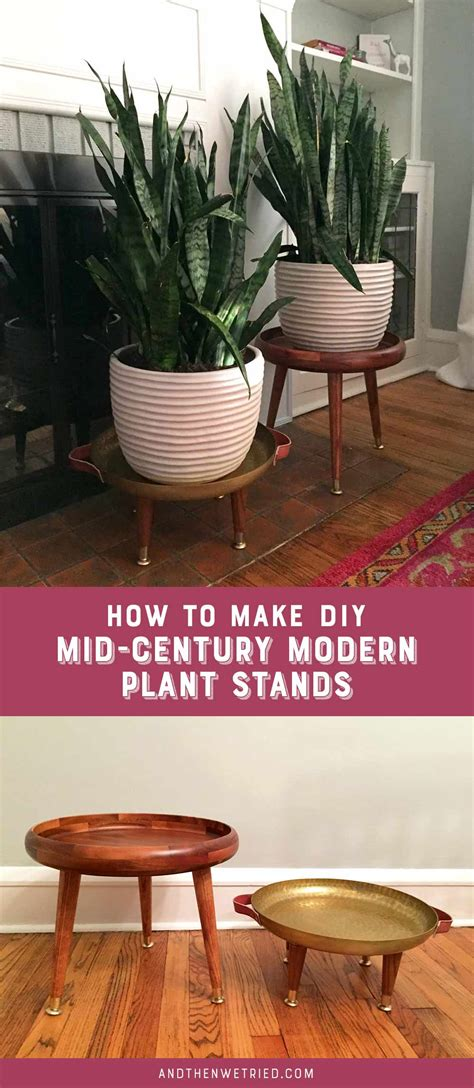 diy mid century plant stands