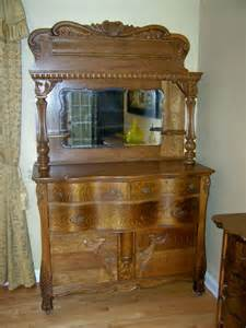 antique ornate quarter sawn tiger oak sideboard buffet gorgeous ebay